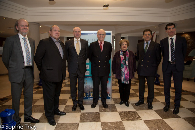 Gibraltar's Governor visits the chess festival Image